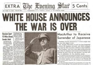 War Is Over_WW II News Headlines